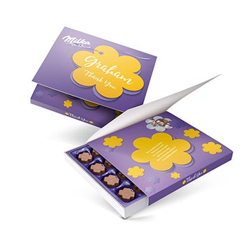 Personalised Milka chocolate gift box - Thank you