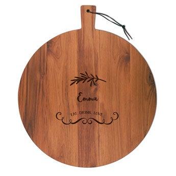 Fából készült sajtlap - Teak