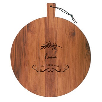 Wooden cheese board - Teak