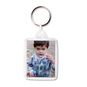 Transparent Schlüsselanhänger mit Foto