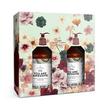 A etiqueta para presente - vela perfumada - baunilha e jasmim