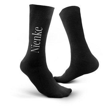 Černé ponožky s textem 35-38