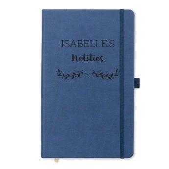 Notebook med navn - Sort