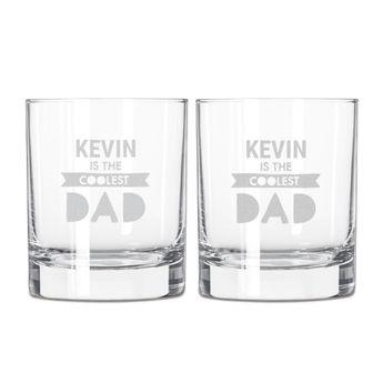 Conjunto de copos de uísque do dia dos pais