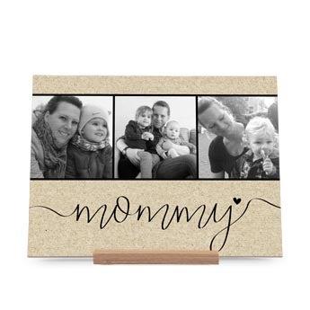Drewniana kartka dla Mamy