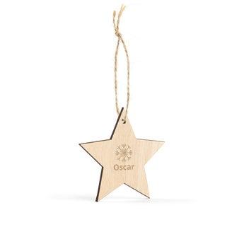 Fa Karácsonyi dekoráció - Csillag - 8 darab
