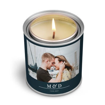 Personalised scented candle in tin