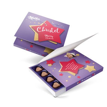 Personalised Milka chocolate gift box - Christmas