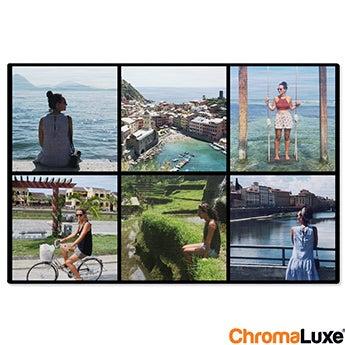 Tableau photo aluminium brossé - ChromaLuxe