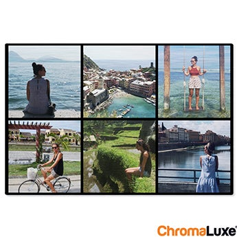 Chromaluxe Aluminium photo - Brushed - 15x10cm
