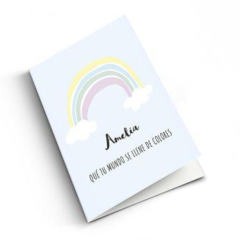 Babykort med billede - M - Lodret