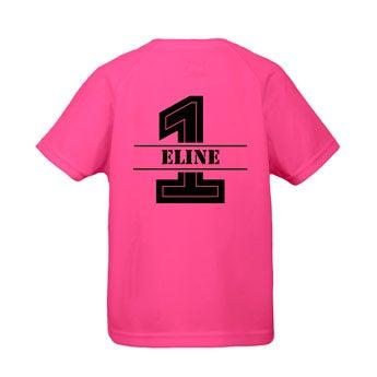 Kinder sportshirts - Roze