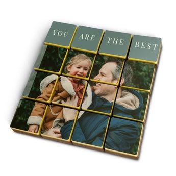 Puzzle photo en chocolat