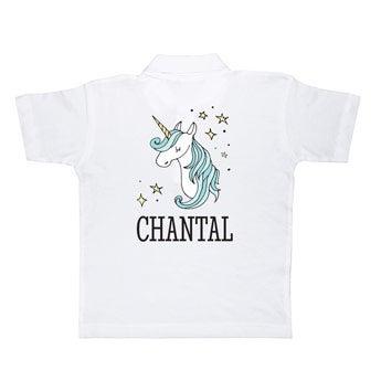 Koszulka polo - dziecięca - biała