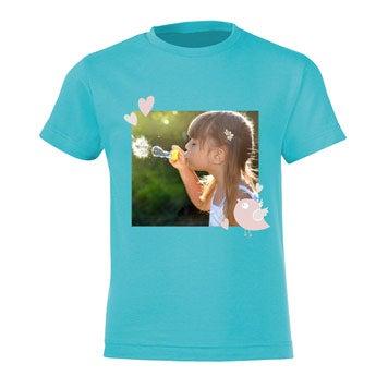 T-shirt - Barn - Ljusblå - 6år