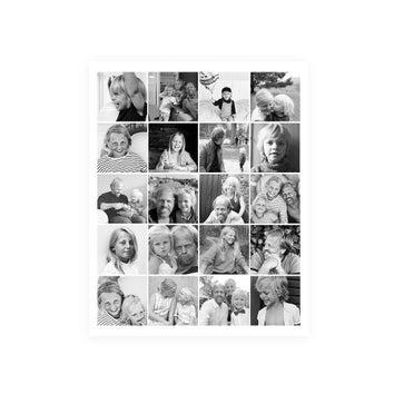 Far & Jeg – Plakat med billedekollage (30x40)