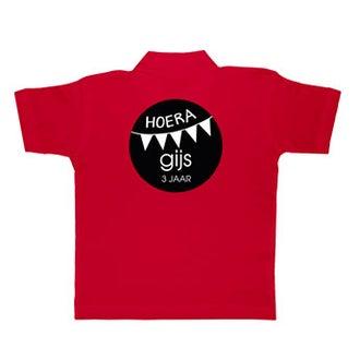 Koszulka polo - Dzieci - Czerwona