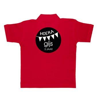 Polo skjorte - Børn - Rød