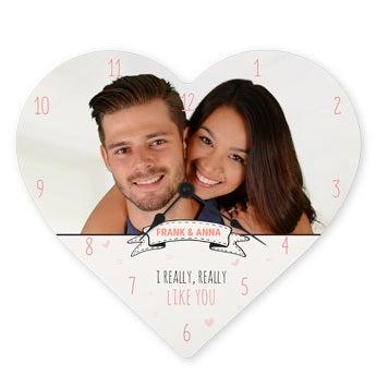Horloge en coeur