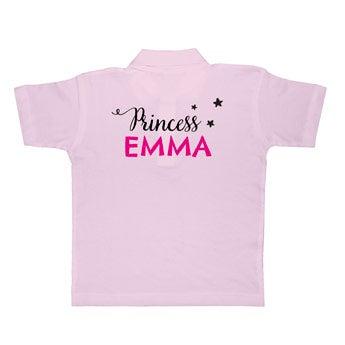 Koszulka polo - dzieci - różowa
