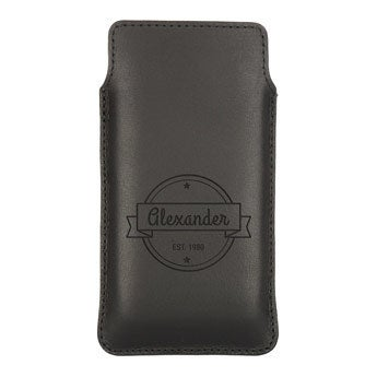 Housse portable cuir - XL  - Marron
