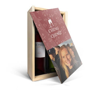 Luc Pirlet - Merlot en Sauvignon Blanc - W spersonalizowanej walizce