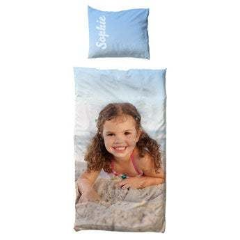 Personligt sengetøj - polyester - 100x150 cm