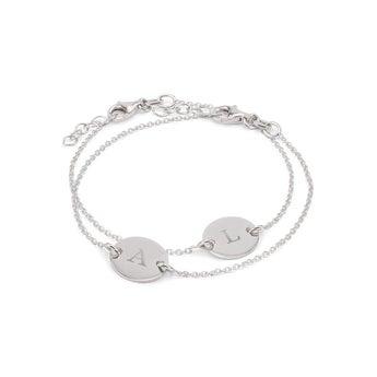 Bracelets en argent gravés - Mère & fille