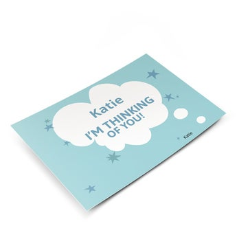 Cartão - penso em você - Horizontal