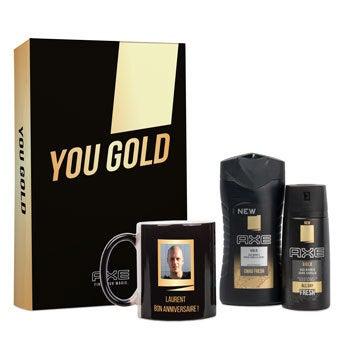 Coffret Axe personnalisé - Mug magique - Gold