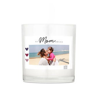 Sviečka Deň matiek v skle - 10 x 10 x 10 cm