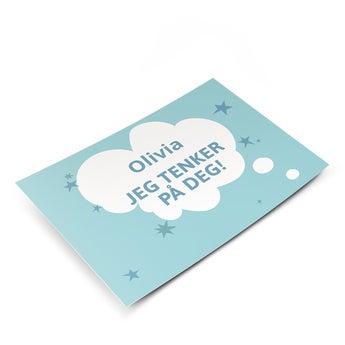 Postkort med bilde - Tenker på deg