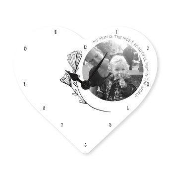 Relógio do Dia das Mães - Coração
