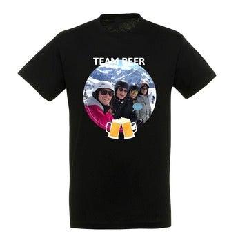 T-shirt - Mænd - Sort - XXL