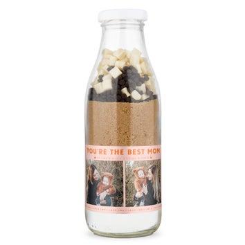 Moederdag muffin bakmix met persoonlijk etiket