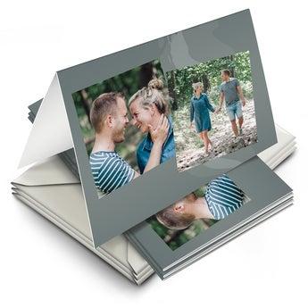 Æske med kort med billede på – lLkkeønskningskort