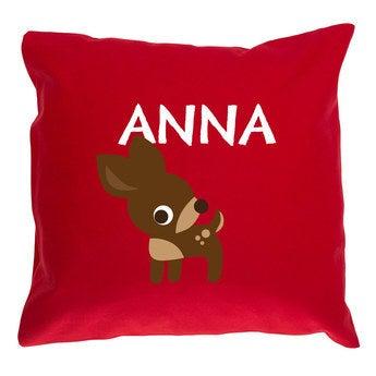 Red children's cushion