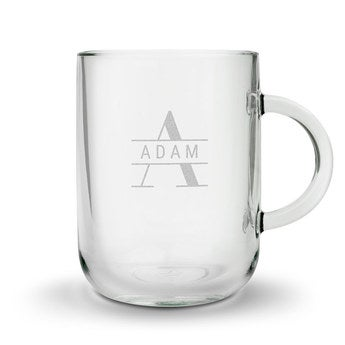 Taza de té grabada - Redonda