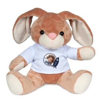 Personalised cuddly toy with photo - Bunny Rabbit