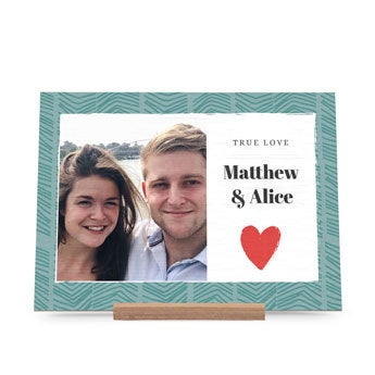 Dřevěná karta Valentines - krajina
