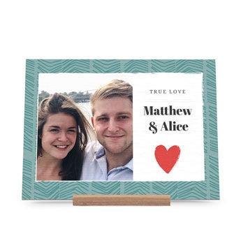 Dřevěná karta Valentines