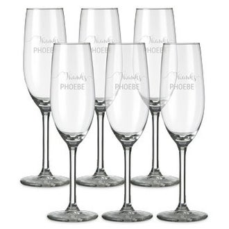 Champagne glass - set of 6