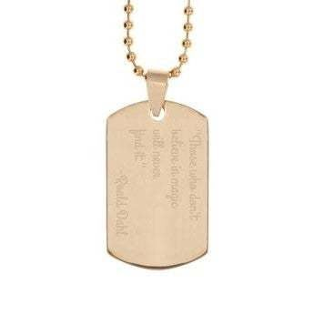Dog Tag - goldfarben