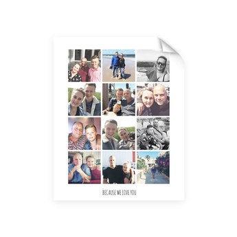 Pappa og meg - Bilde collage plakat (40x50)