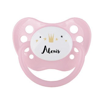Personalised pacifier - Pink