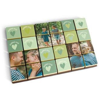 Puzzle photo en chocolat - 24 pièces