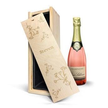 René Schloesser rosé 750 ml - In gegraveerde kist