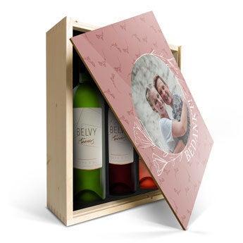 Belvy - Wit, rood en rosé - In bedrukte kist