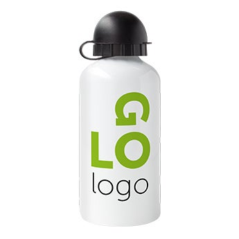 Bamboo water bottle - Aluminium look
