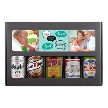 Beer gift set - grandpa (International)